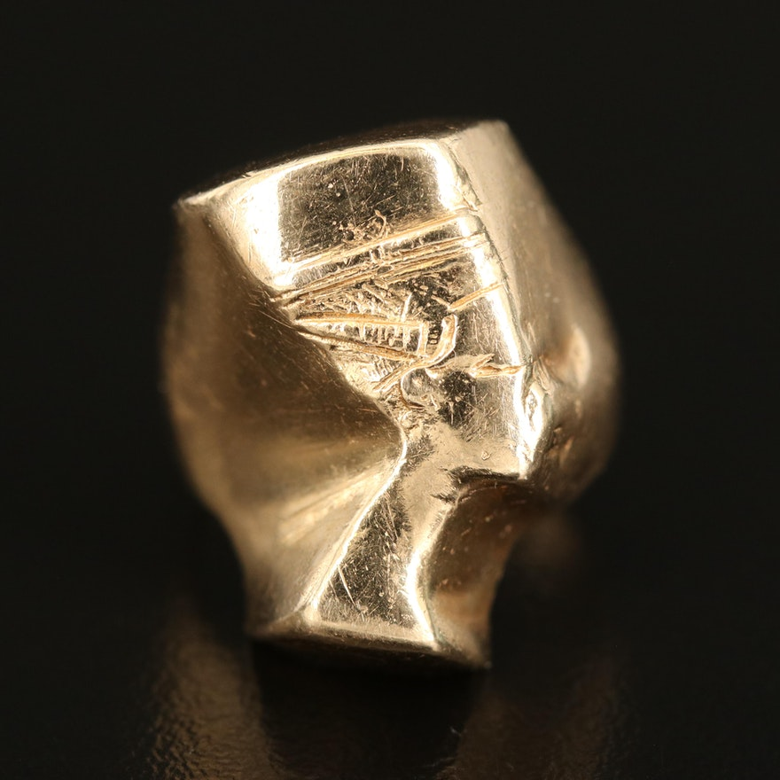 14K Queen Nefertiti Ring