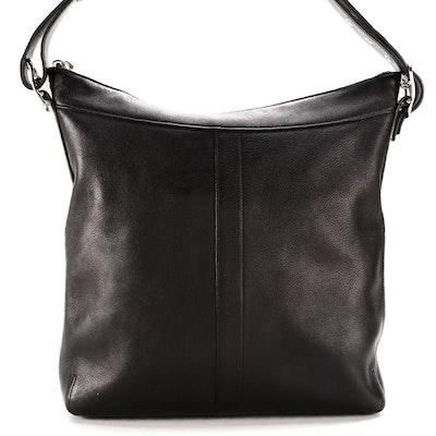 Coach Legacy Slim Duffle Hobo in Black Full Grain Leather