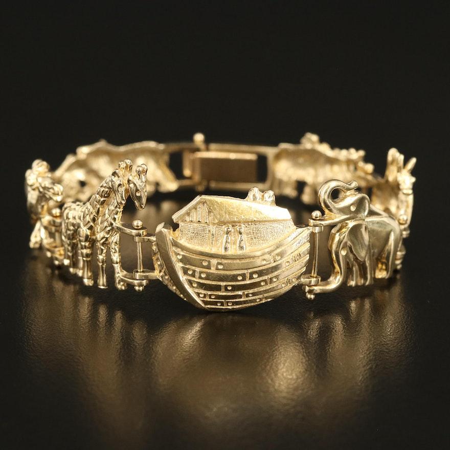14K Noah's Ark Link Bracelet