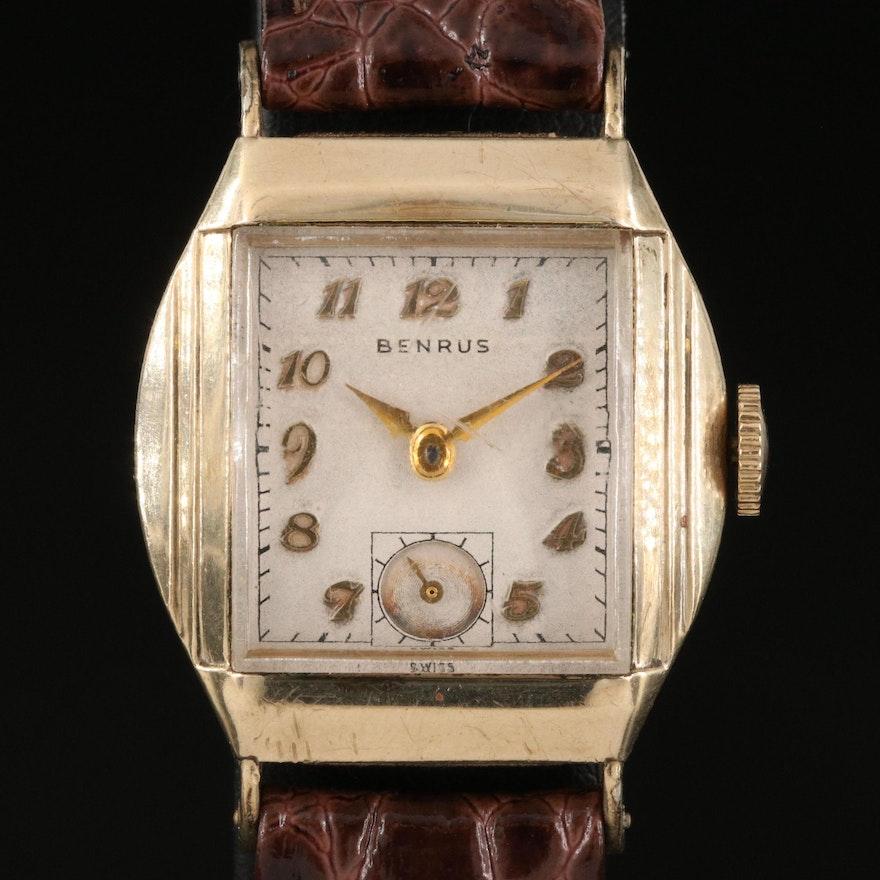 Vintage Benrus 10K Rolled Gold Plate Stem Wind Wristwatch