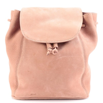Coach Sonoma Pebbled Leather Backpack in Antique Rose