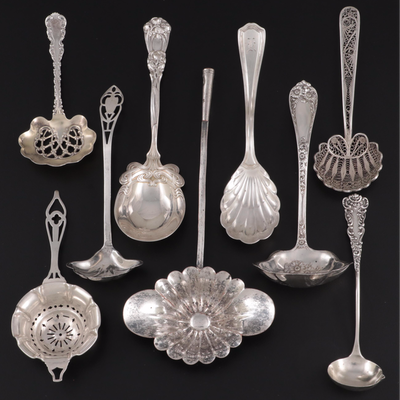 Reed & Barton, Webster, Durgin with Other Sterling Silver Ladles and Spoons