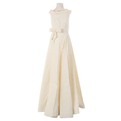 Montaldo's  Satin Gown in Cream