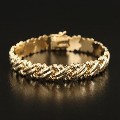 """14K """"X"""" Link Bracelet"""