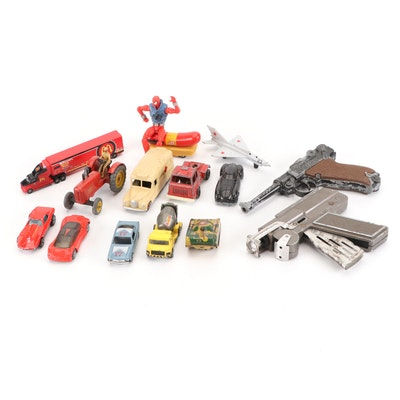 Hot Wheels, Dinky Toys, Tootsie Toy, and More Toy Cars, Guns, and Action Figure