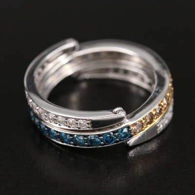 Sterling 1.05 CTW Diamond Day to Night Converter Eternity Band