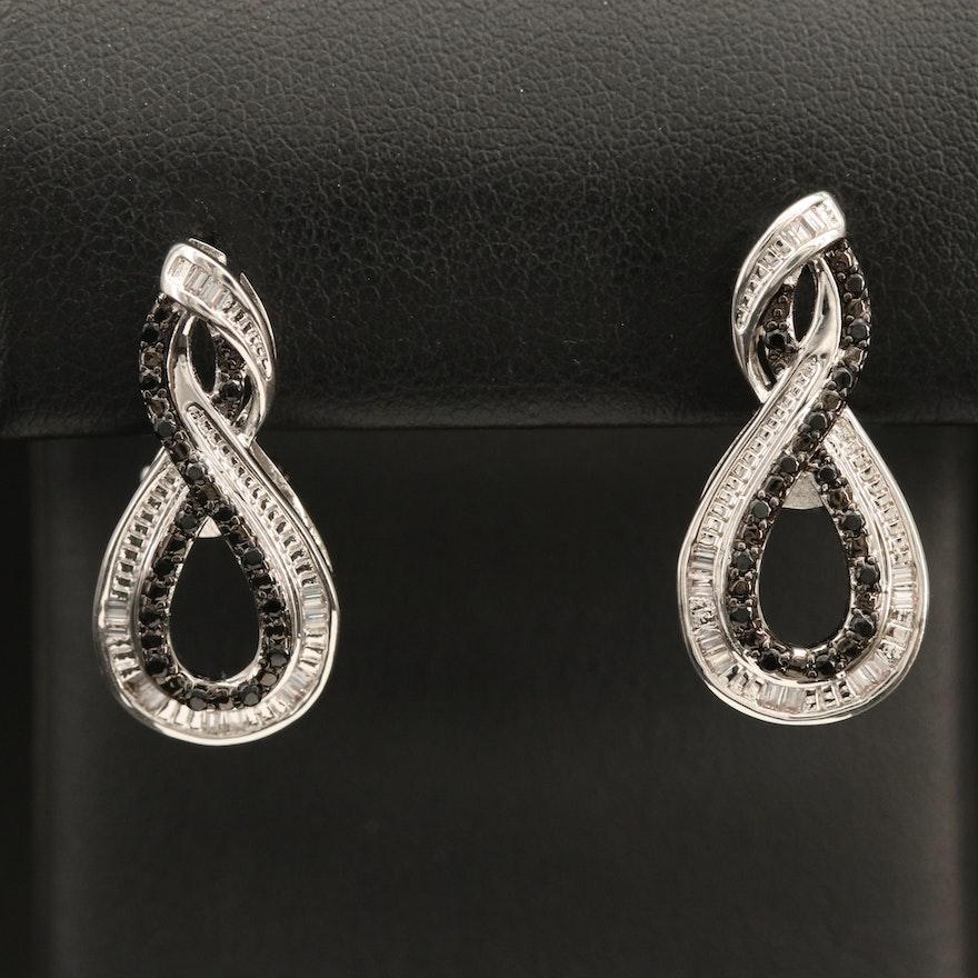 Cubic Zirconia  Infinity Earrings