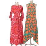 Marimekko Printed Side-Tail Dress, Kiyomi of Hawaii Printed Hostess Gown