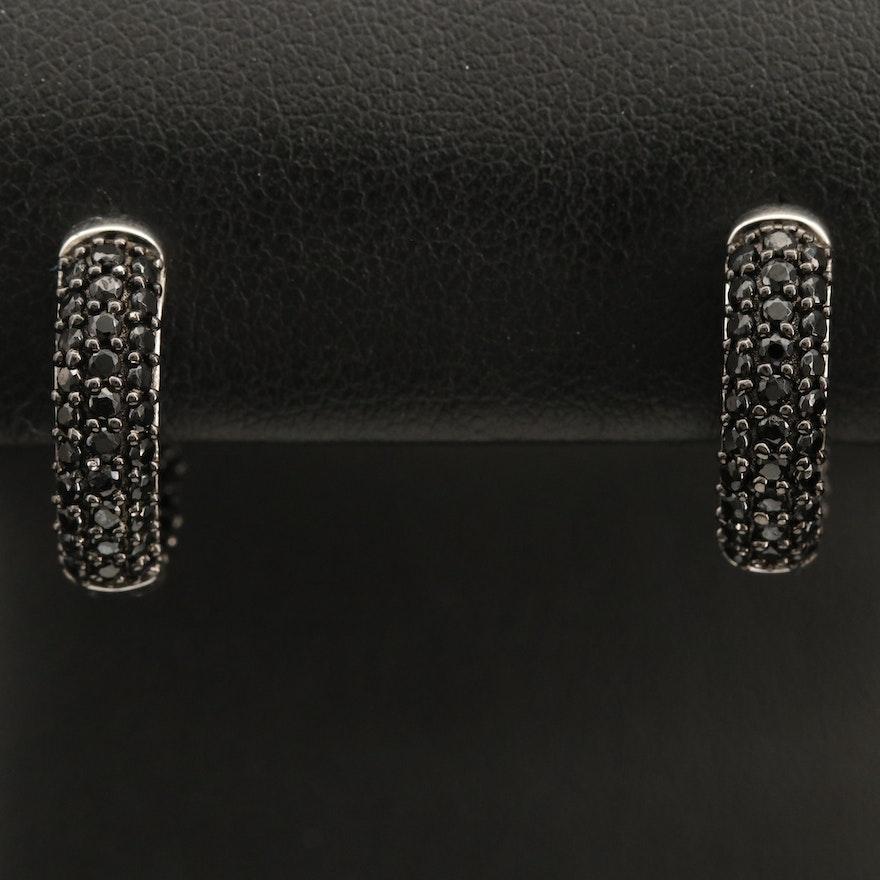 Sterling  Pavé Spinel Inside-Out Hoop Earrings