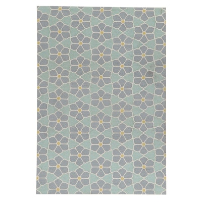 5'1 x 7'4 Hand-Tufted Indian Modern Style Rug, 2010s