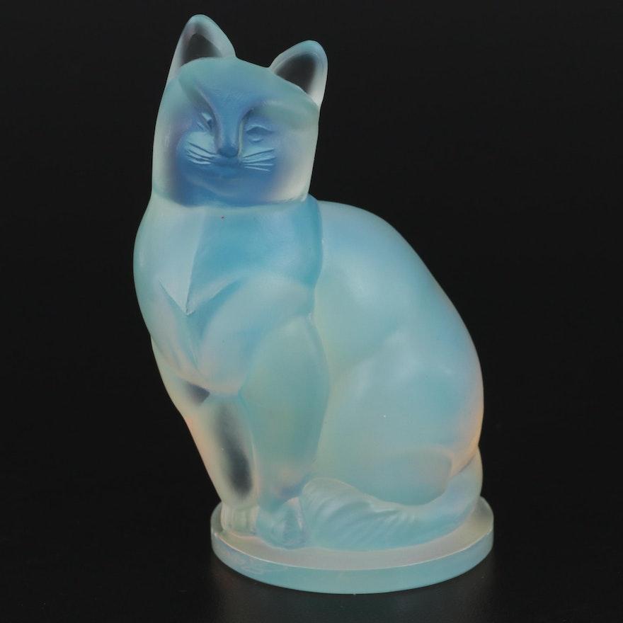 "Sabino ""Small Cat"" Opalescent Glass Figurine"