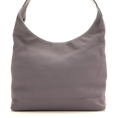 Gucci Lilac Knit Shoulder Bag with Leather Trim