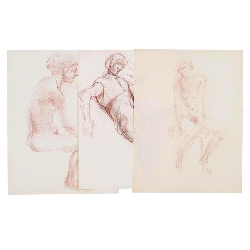 John Tuska Figural Pastel Studies