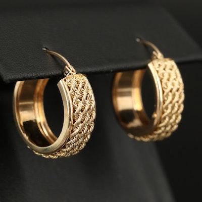 14K Triple Rope Hoop Earrings