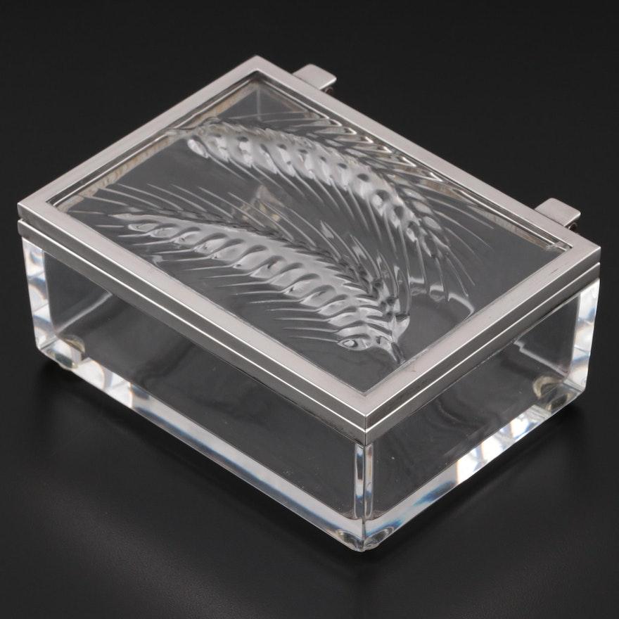"Lalique ""Epis"" Crystal Hinged Box"