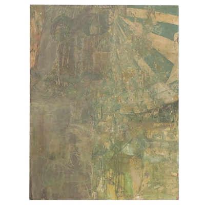 """Avraham Loewenthal Large-Scale Oil Painting """"Layers,"""" Circa 2000"""