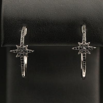 Eva LaRue Sterling Spinel Star Hoop Earrings