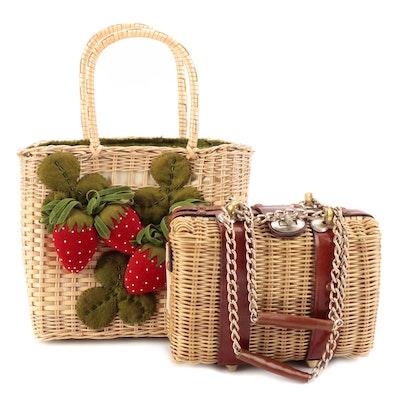 M. Ruth Gittler Strawberry Basket Bag with Other Basket Box Bag