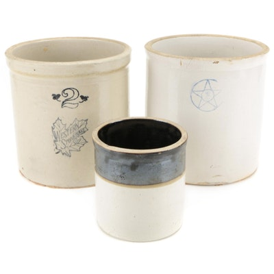 Western Stoneware and Other Salt Glazed Stoneware Crocks