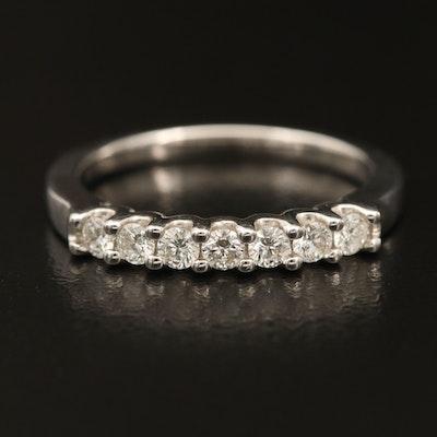 18K Diamond Multi-Stone Band with High Polish Finish