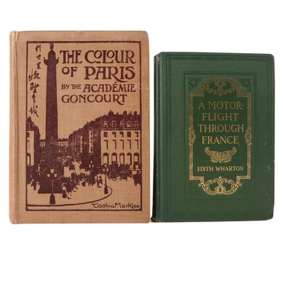 """First Edition """"A Motor-Flight Through France"""" by Edith Wharton and More"""