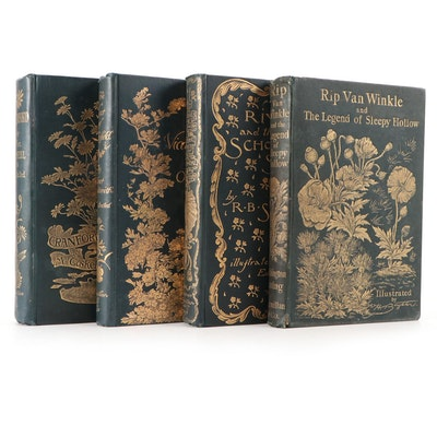 """Illustrated """"Rip Van Winkle"""" by Washington Irving and More, Late 19th Century"""
