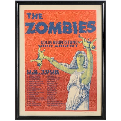 The Zombies American Tour Serigraph Poster, 2004