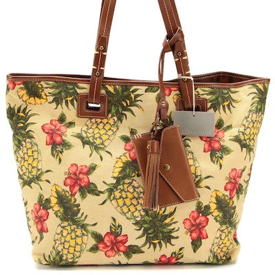 Isabella Fiore Tahiti Tropical Patterned Tote
