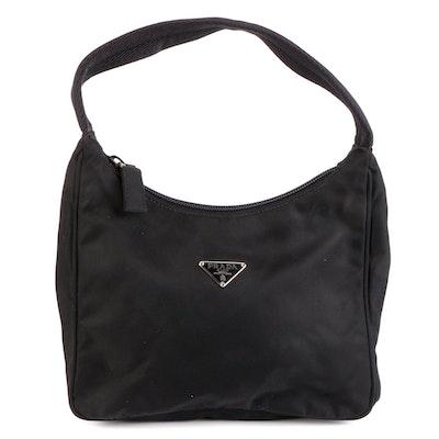 Prada Mini Top Handle Bag in Black Tessuto Nylon