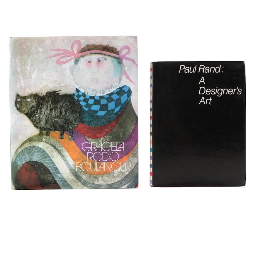 Paul Rand and Graciela Rodo Boulanger Signed Art Books, Late 20th Century