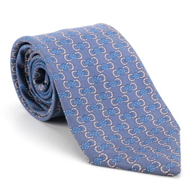 Men's Hermès 7118 FA Patterned Silk Twill Tie