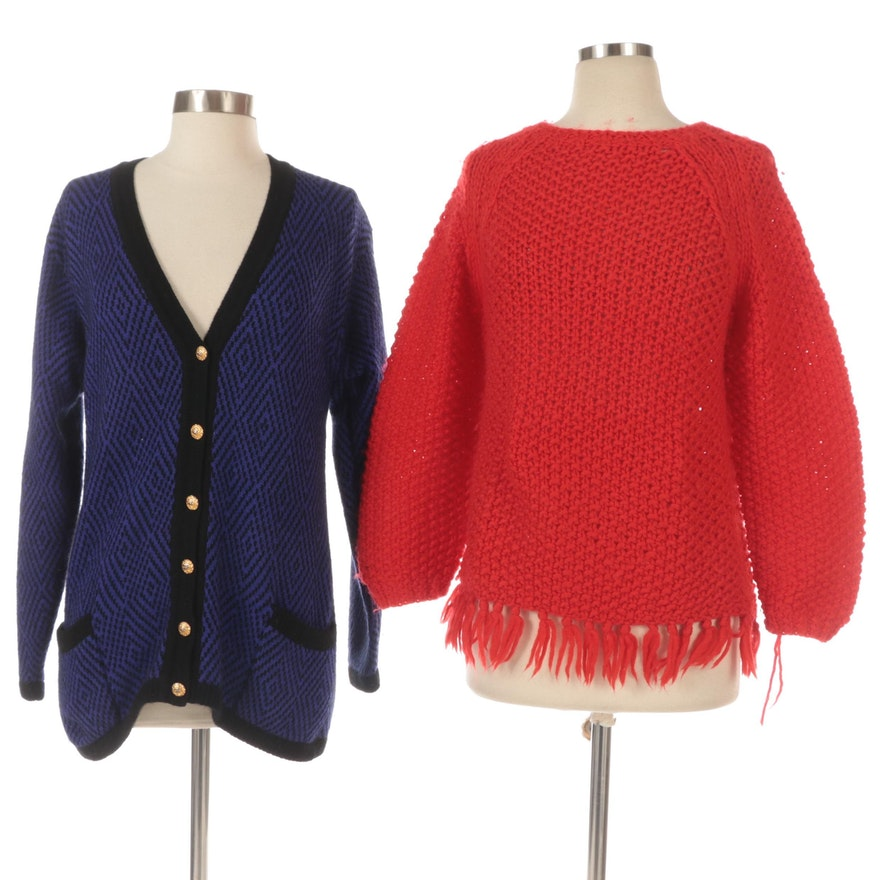 Cashmeres of Scotland Cardigan and T.W. Murphy Hand Knitted Wool Sweater
