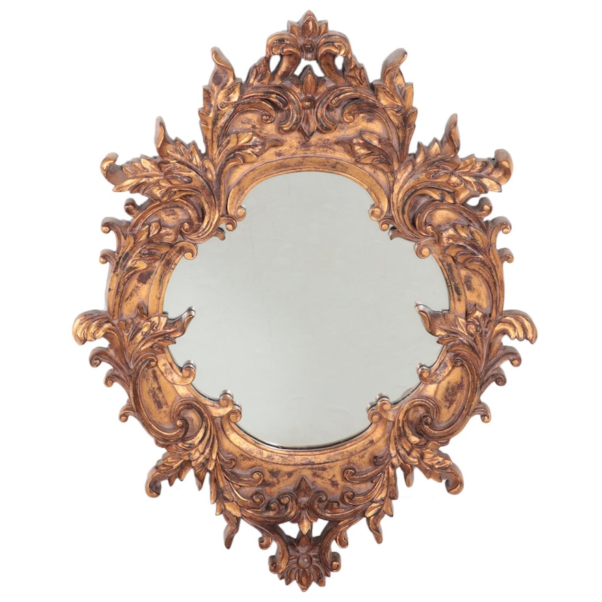 Baroque Style Gilt Composite Mirror, Mid to Late 20th Century