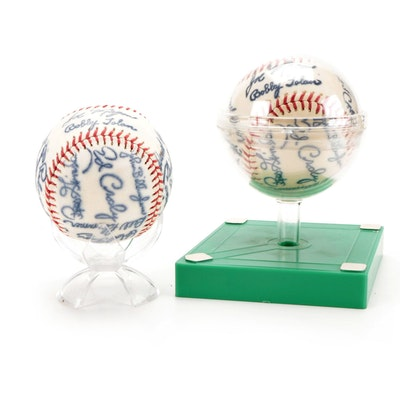 1972 Cincinnati Reds Team Stamped Souvenir Baseballs