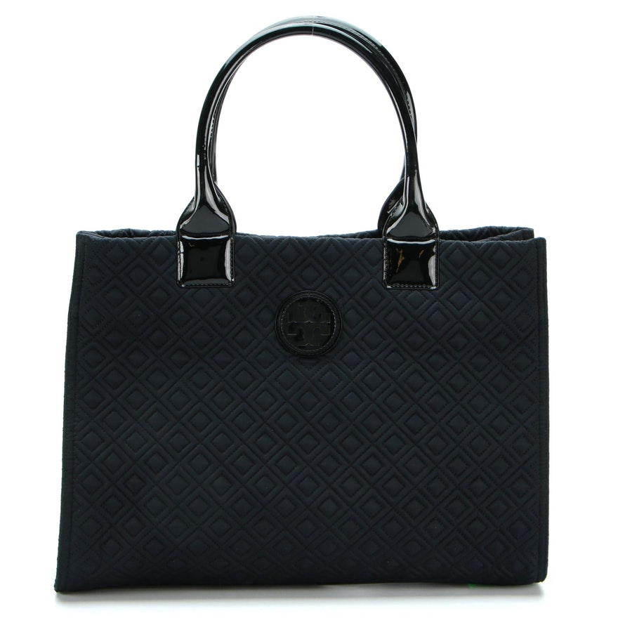 Tory Burch Large Quilted Dust Bag with Patent Leather Trim