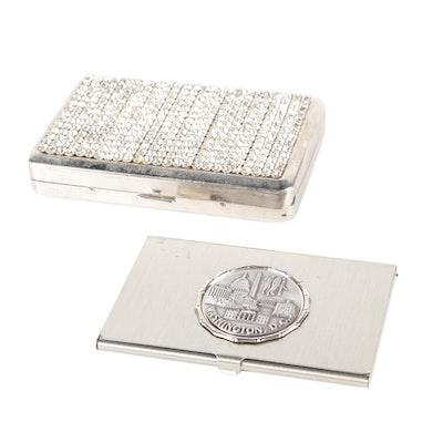 Rhinestone Cigarette and Souvenir Card Cases