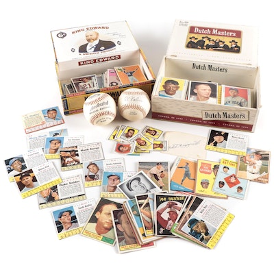 1950s-1960s Baseball and Football Cards with Mickey Mantle and Willie Mays
