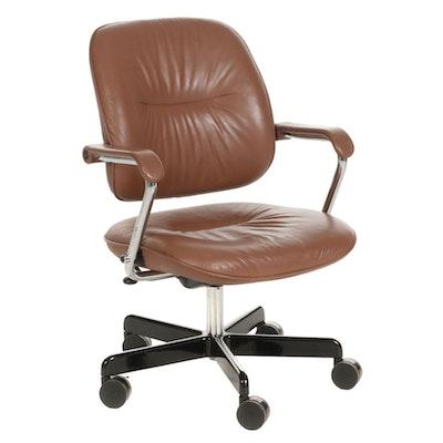 Sunar-Hauserman Leather Office Chair, Late 20th Century