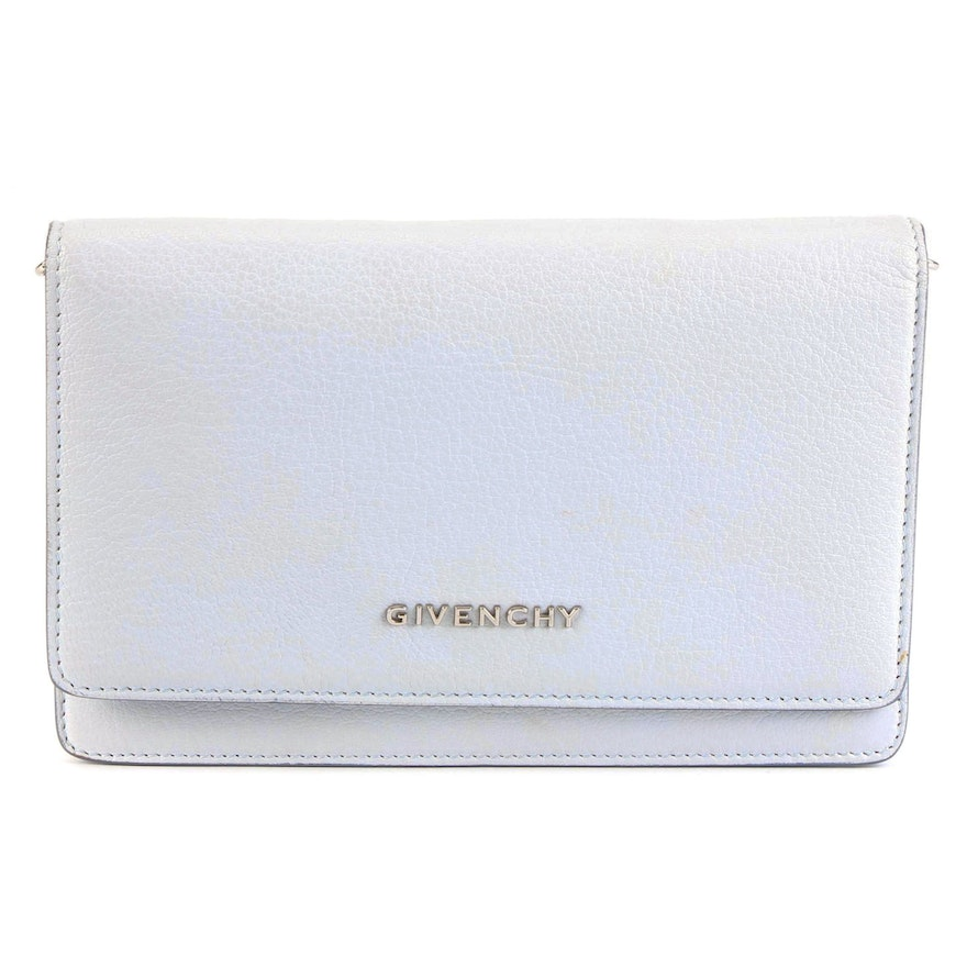 Givenchy Pandora Wallet-on-Chain Bag in Pale Blue Leather