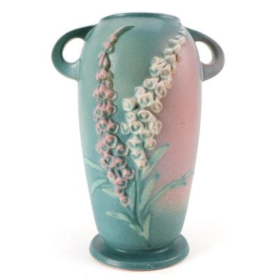 """Roseville Pottery """"Foxglove"""" Vase, Mid-20th Century"""
