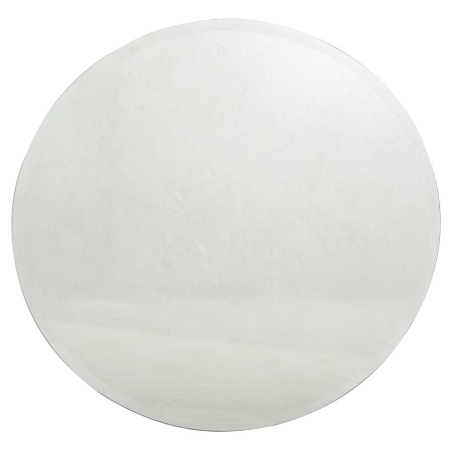 Round Beveled Wall Mirror