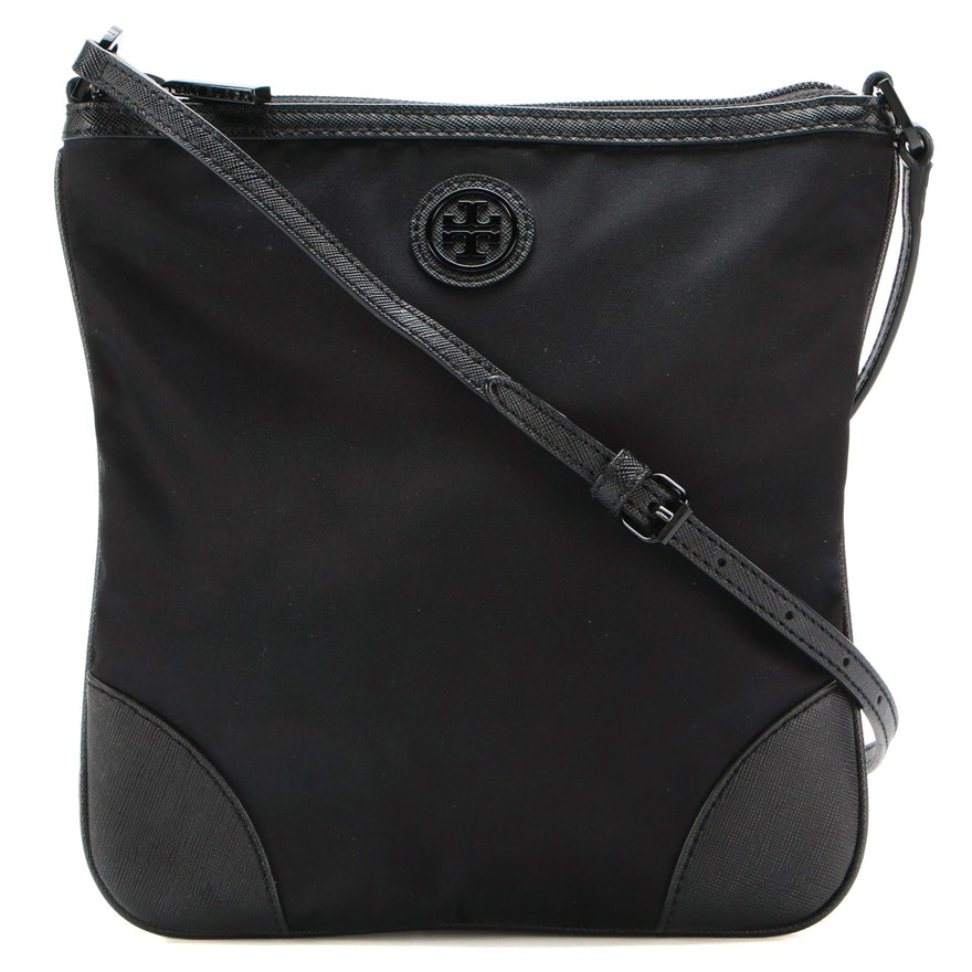 Tory Burch Nylon and Leather Crossbody Bag