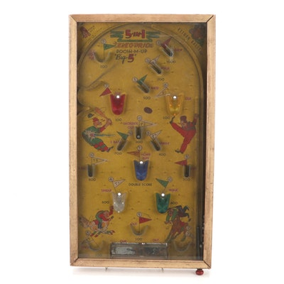 "Northwestern ""5-In-1 Electric Poosh-M-Up Big 5"" Tabletop Pinball Game, 1950s"