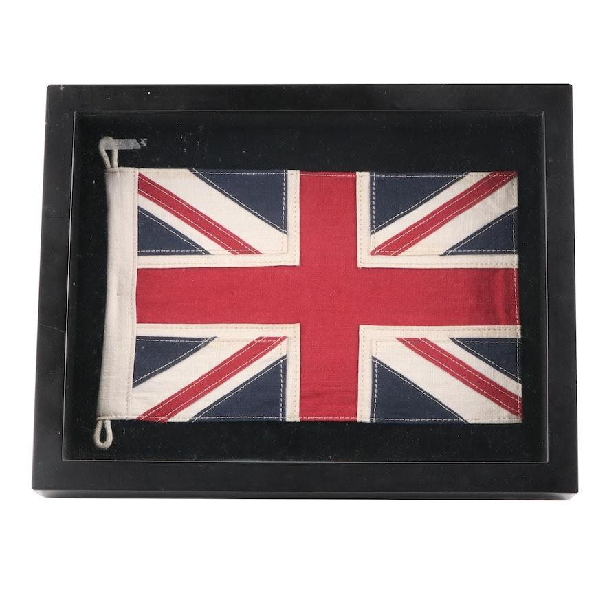 Restoration Hardware Framed Union Jack Flag of the United Kingdom