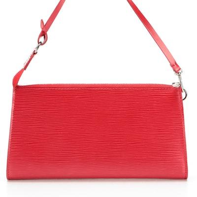 Louis Vuitton Pochette Accessoires in Rouge Epi Leather