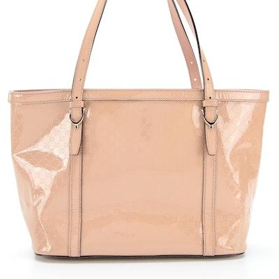 Gucci Handbag in Beige GG Patent Leather
