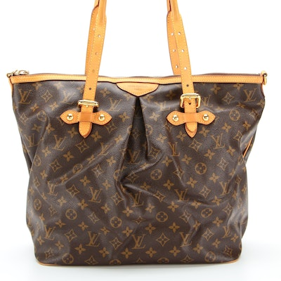 Louis Vuitton Palermo GM Tote in Monogram Canvas with Vachetta Leather