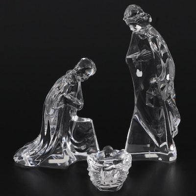 """Mikasa """"Holy Family"""" Crystal Rejoice Nativity Figurines"""
