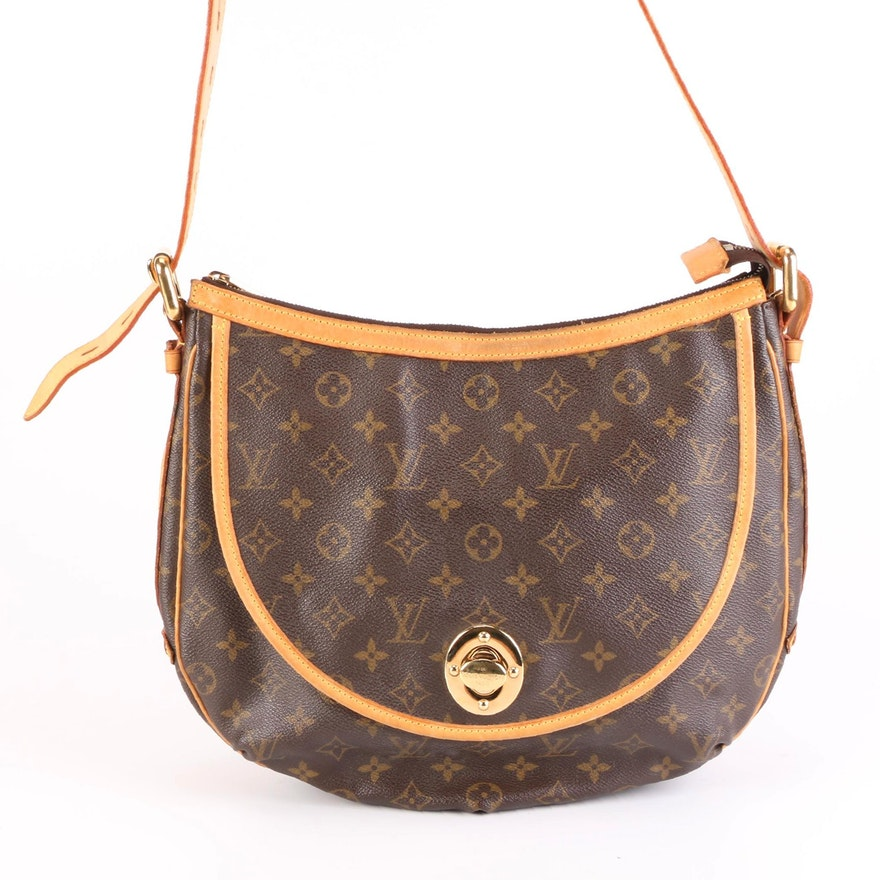 Louis Vuitton Tulum GM Bag in Monogram Canvas and Vachetta Leather