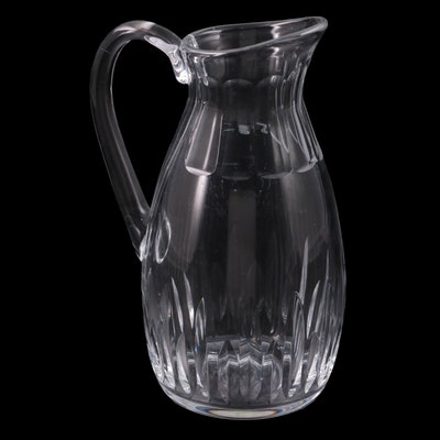 """Baccarat """"Biarritz"""" Crystal Pitcher, Mid to Late 20th Century"""